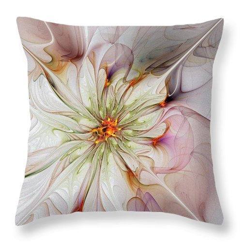 Digital Art Throw Pillow featuring the digital art In Full Bloom by Amanda Moore