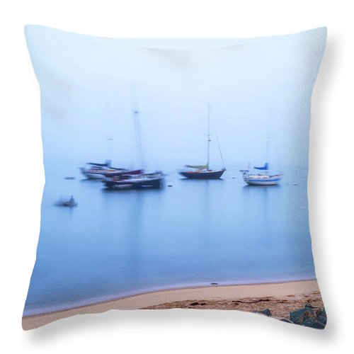 Fog Throw Pillow featuring the photograph In The Fog by Joseph S Giacalone