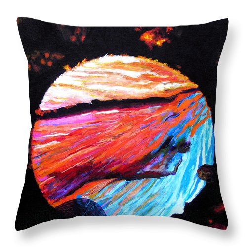 Abstract Throw Pillow featuring the painting Inspire Three by Stan Hamilton