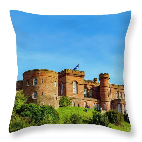 Inverness Throw Pillow featuring the photograph Inverness Castle, Scotland by Karol Kozlowski