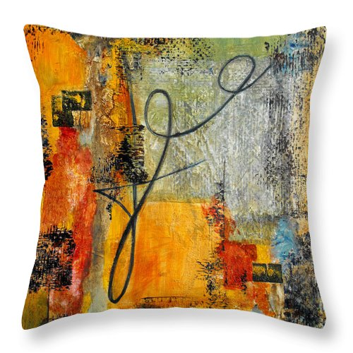 Abstract Throw Pillow featuring the painting Invitation To Dance by Ruth Palmer