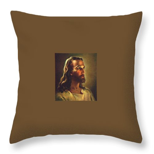 Jesus 2 Throw Pillow featuring the photograph Jesus 2 by Doug Norkum
