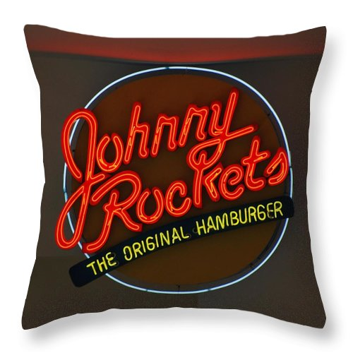 Macro Throw Pillow featuring the photograph Johnny Rockets by Rob Hans