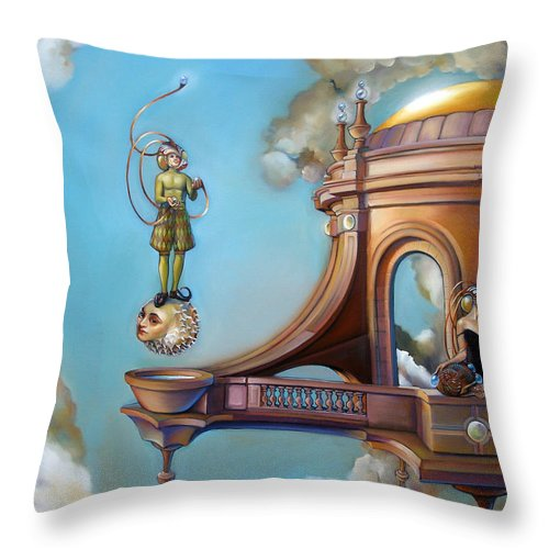 Tropical Fish Throw Pillow featuring the painting Jugglernautica by Patrick Anthony Pierson