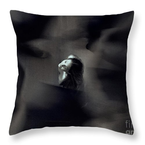 Street Throw Pillow featuring the photograph Just For Today I Will Not Be Afraid by Dana DiPasquale