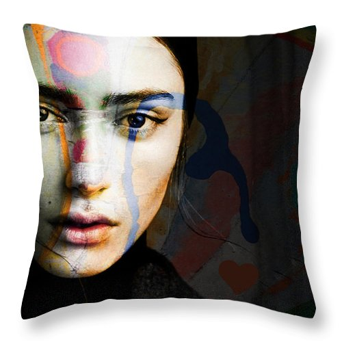 Female Throw Pillow featuring the mixed media Just Like A Woman by Paul Lovering