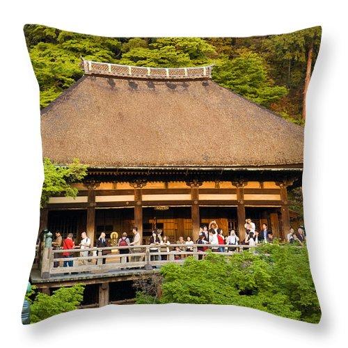 Pagoda Throw Pillow featuring the photograph Kiyomizudera Temple by Sebastian Musial
