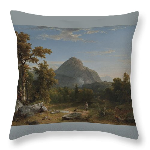 Landscape Throw Pillow featuring the painting Landscape by Asher Brown