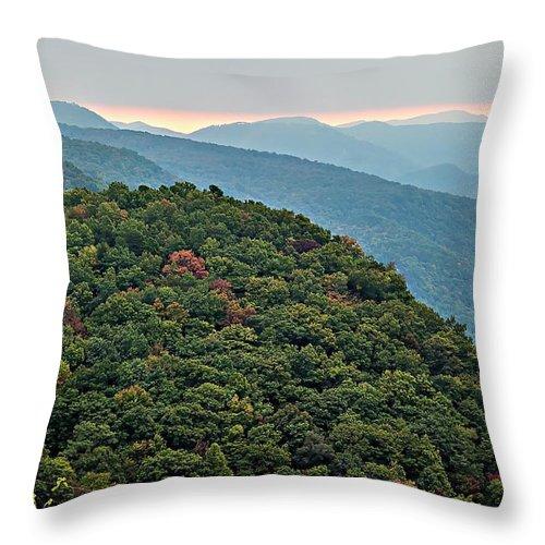 Landscape Throw Pillow featuring the photograph Landscape View At Cedar Mountain Overlook by Alex Grichenko