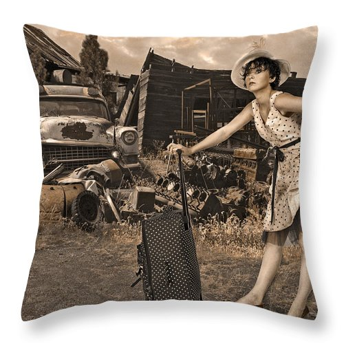 Landscape Throw Pillow featuring the photograph Leaving Home For Good..... by Jeff Burgess