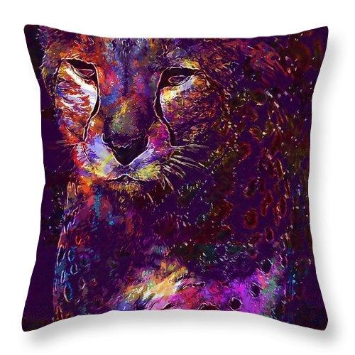 Leopard Predator Animal Feline Throw Pillow for Sale by PixBreak Art