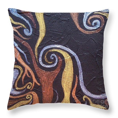 Square Throw Pillow featuring the painting Life by Emily Young
