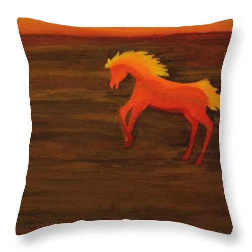 Life On Mars Throw Pillow featuring the painting Life On Mars by Laurette Escobar