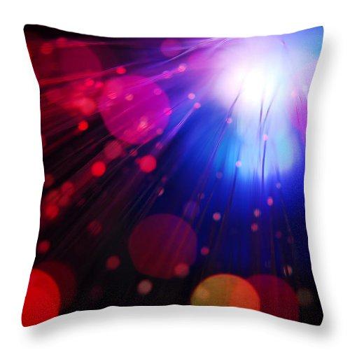Light Throw Pillow featuring the photograph Light Burst-4 by Steve Somerville