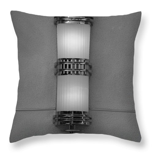 Sconce Throw Pillow featuring the photograph Lighted Wall Sconce by Rob Hans