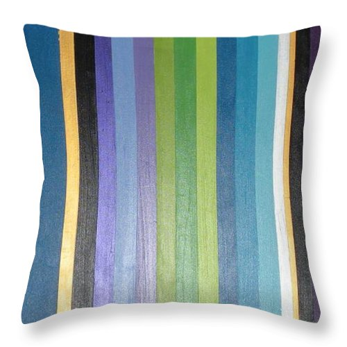 Purple Throw Pillow featuring the painting Linea by Maria Bonnier-Perez
