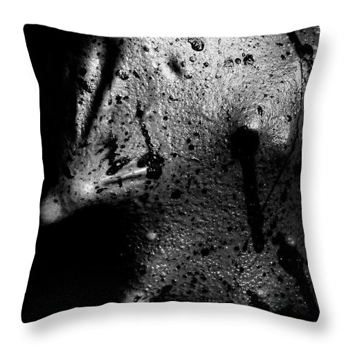 Nude Throw Pillow featuring the photograph Liquid Latex by Pavel Jelinek