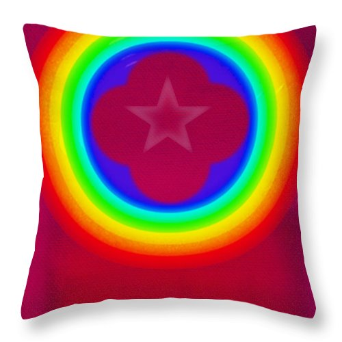 Abstract Throw Pillow featuring the painting Logo by Charles Stuart