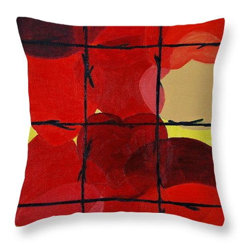 Love Throw Pillow featuring the painting Love No Categories Please by Charla Van Vlack