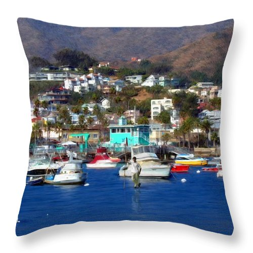Golf Throw Pillow featuring the digital art Love Of The Game by Snake Jagger