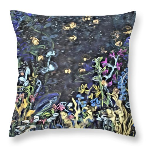 Fire Fly Throw Pillow featuring the painting Lucciola by Modern Art