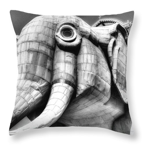 Lucy Throw Pillow featuring the photograph Lucy The Elephant by Lucia Vicari
