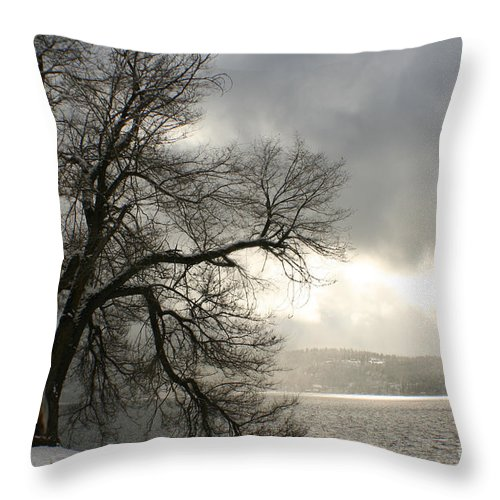 Lake Throw Pillow featuring the photograph Luminescence by Idaho Scenic Images Linda Lantzy