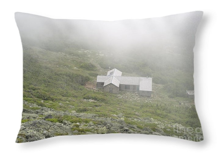Hike Throw Pillow featuring the photograph Madison Spring Hut - White Mountains New Hampshire by Erin Paul Donovan