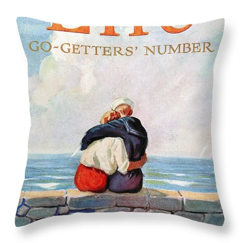 1925 Throw Pillow featuring the photograph Magazine: Life, 1925 by Granger