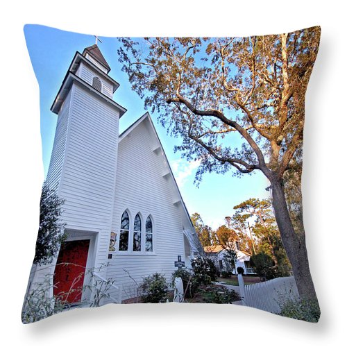 Alabama Photographer Throw Pillow featuring the digital art Magnolia Springs by Michael Thomas