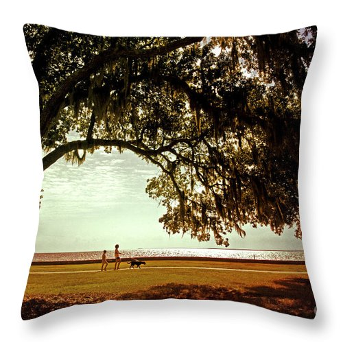 Mandeville Throw Pillow featuring the photograph Mandeville Lakefront by Scott Pellegrin