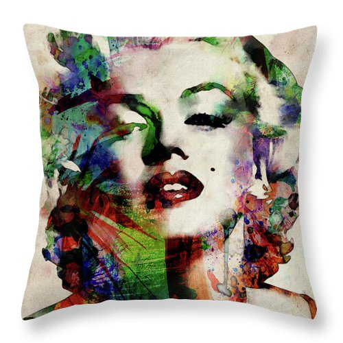 Marilyn Throw Pillow featuring the digital art Marilyn by Michael Tompsett