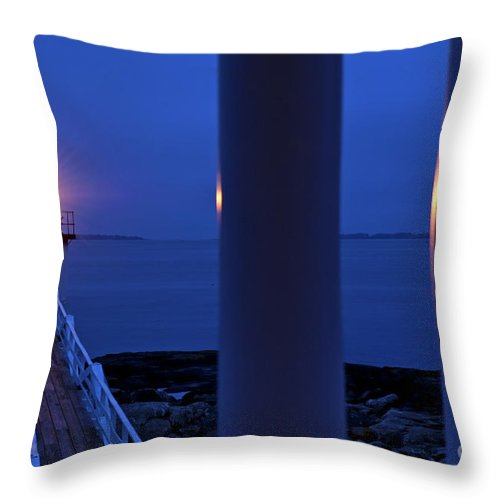 Maine Throw Pillow featuring the photograph Marshall Point Lighthouse by John Greim
