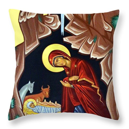 Nativity Throw Pillow featuring the photograph Mary by Munir Alawi