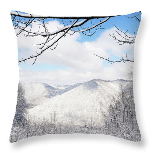 West Virginia Throw Pillow featuring the photograph Mcguire Mountain Overlook by Thomas R Fletcher