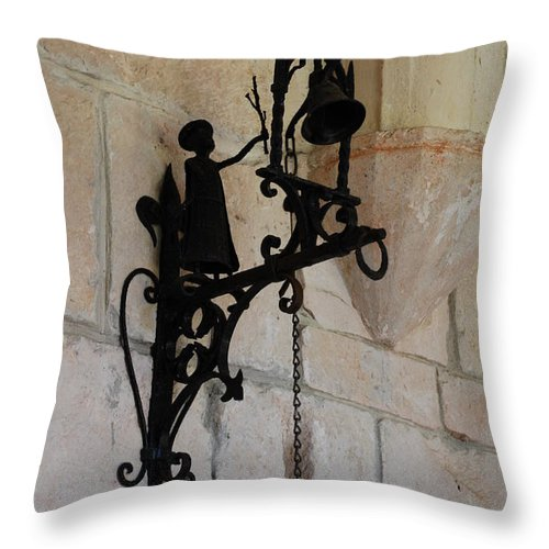 Architecture Throw Pillow featuring the photograph Miami Monastery Bell by Rob Hans
