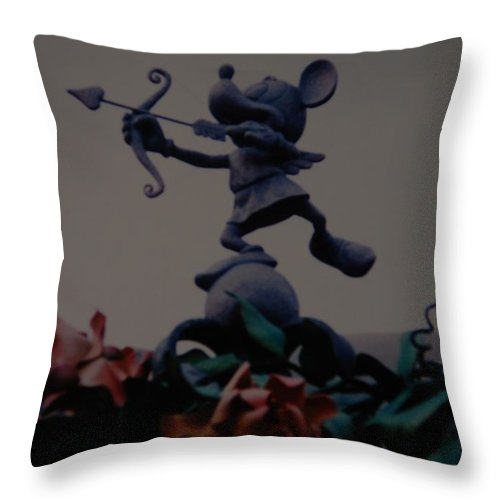 Micky Mouse Throw Pillow featuring the photograph Mickey Mouse by Rob Hans