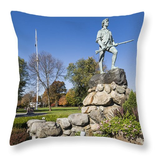 America Throw Pillow featuring the photograph Minute Man Sculpture by John Greim