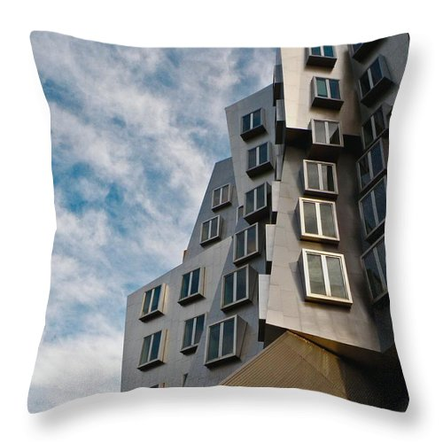 Architecture Throw Pillow featuring the photograph MIT by Donna Shahan