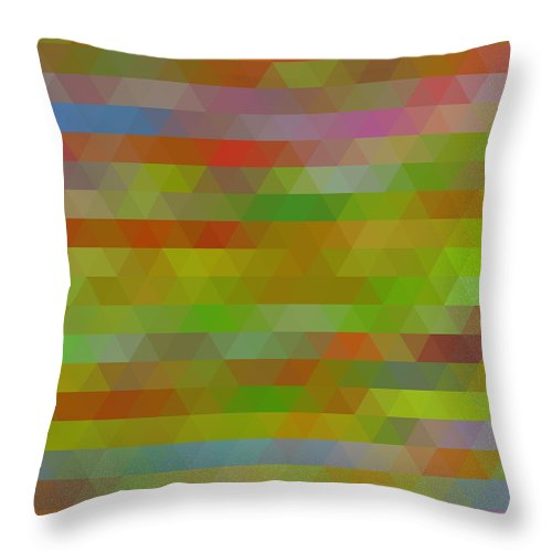 Modern Abstract Mosaic Color Combination 5 Throw Pillow featuring the painting Modern Abstract Mosaic Color Combination 5 by Celestial Images