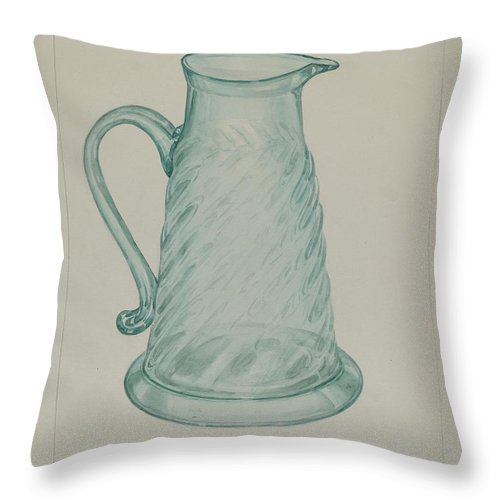 Throw Pillow featuring the drawing Molasses Jug by Giacinto Capelli