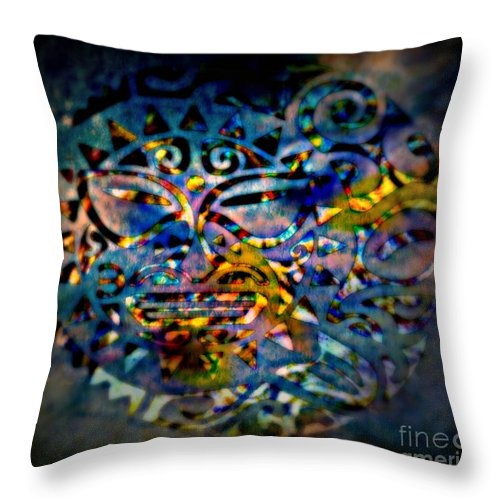 Cancer Sign Throw Pillow featuring the painting Moon Child by Wbk