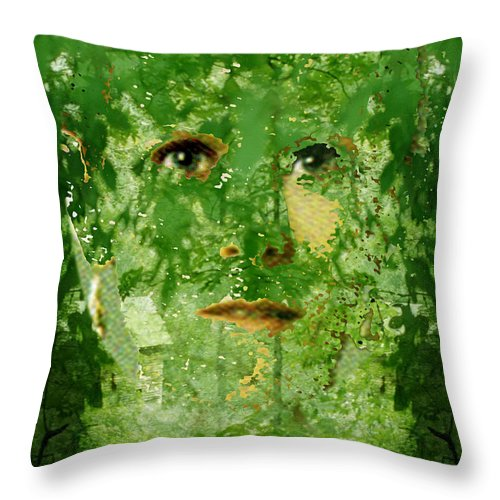 Lady Throw Pillow featuring the digital art Mother Nature by Seth Weaver