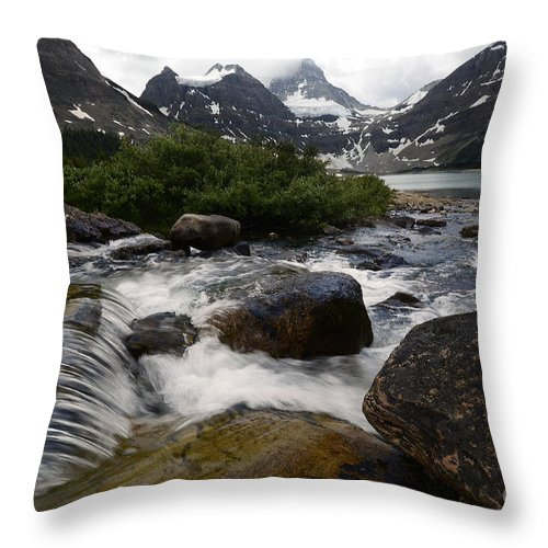 .mount Assiniboine Throw Pillow featuring the photograph Mount Assiniboine Canada 17 by Bob Christopher