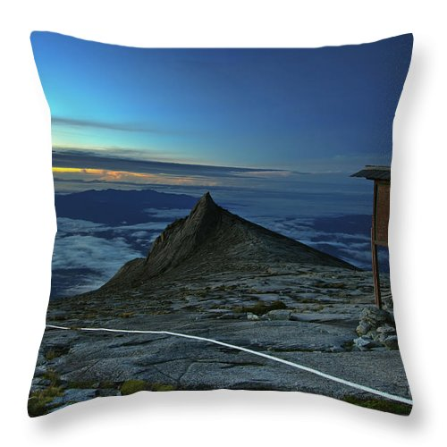 Peak Throw Pillow featuring the photograph Mount Kinabalu by MotHaiBaPhoto Prints