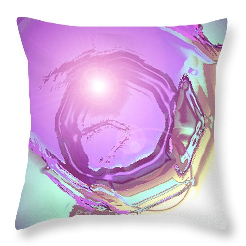 Moveonart! Digital Gallery Throw Pillow featuring the digital art MoveOnArt Inspiration Intuition Intellect by Jacob Kanduch