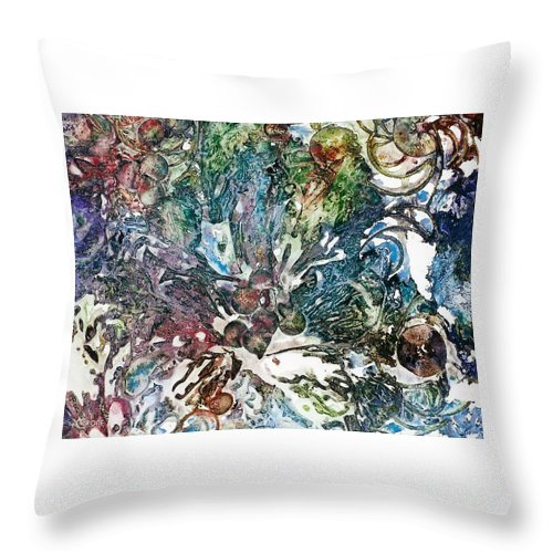 Pure Design Throw Pillow featuring the painting Natural Expansion by Vicki Crone