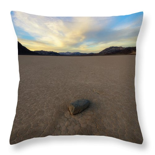 Desert Throw Pillow featuring the photograph Natures Pace by Mike Lang