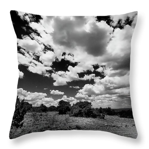 Clouds Throw Pillow featuring the photograph New Mexico Clouds by David Patterson