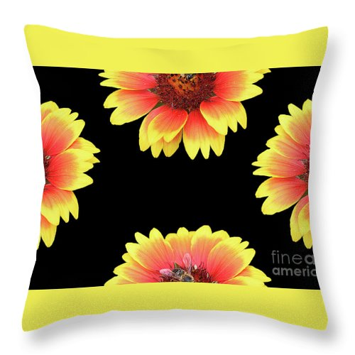 Flowers Throw Pillow featuring the photograph Nice Patterns by Elvira Ladocki
